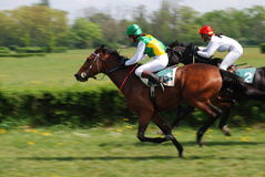 Eine Szene eines Pferdenrennens Stockfoto