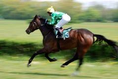 Eine Szene eines Pferdenrennens Lizenzfreies Stockfoto