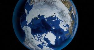 Eine Szene mit der Planet Erde lizenzfreie abbildung