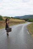 Eine Szene mit einer schönen jungen Frau Lizenzfreie Stockfotos