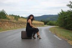 Eine Szene mit einer schönen jungen Frau Stockfoto