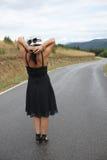 Eine Szene mit einer schönen jungen Frau Stockfotografie