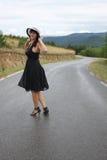 Eine Szene mit einer schönen jungen Frau Lizenzfreies Stockfoto