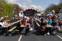 Eine Szene nahe dem Brandenburger Tor Lizenzfreies Stockfoto