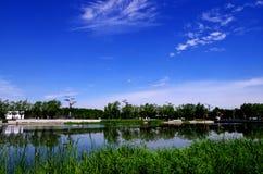 Eine Szene von Peking-Olympiapark Stockfotos