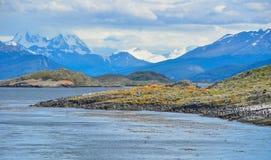 Eine szenische Ansicht von Tierra del Fuego National Park, Argentinien Stockbild