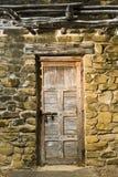 Eine Tür am San- Joseauftrag, San Antonio. stockfotografie