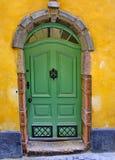 Eine Tür, Straße von Stockholm, Schweden Stockfotografie