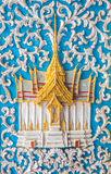 Eine Türkunst am Tempel Lizenzfreie Stockfotos