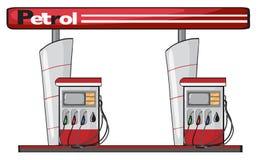 Eine Tankstelle vektor abbildung