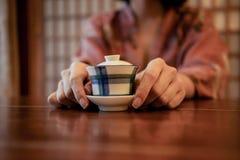 Eine Tasse Tee Stockfotos