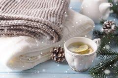 Eine Tasse Tee für das neue Jahr Stockbilder