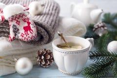 Eine Tasse Tee für das neue Jahr Lizenzfreie Stockfotos