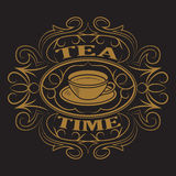Eine Tasse Tee, Logo Lizenzfreies Stockbild