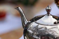 Eine Teekannennahaufnahme Lizenzfreies Stockfoto