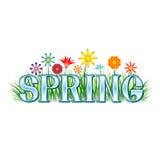 Frühlings-Fahne Lizenzfreies Stockbild
