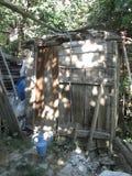 Eine Toilette vom östlichen anatolischen Dorf stockbilder