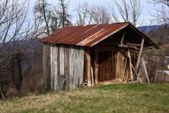 Eine traditionelle hölzerne Hütte stockfotos