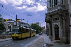 Eine Tram in Sarajevo Stockbild