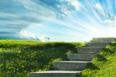 Eine Treppe zum Himmel Stockfoto
