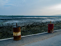 Eine trockene Küste im Winter Lizenzfreie Stockfotografie