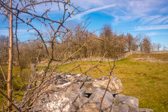 Eine Trockenmauer im See-Bezirks-Nationalpark, England Lizenzfreies Stockfoto