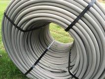 Eine Trommel des Kabels Stockfotos