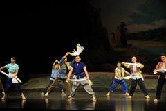 Eine Tuch Jiangxi-Oper wellenartig bewegen eine Laufgewichtswaage Lizenzfreies Stockfoto