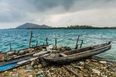 Eine typische Ansicht in die Inseln Sans Blas lizenzfreie stockfotos
