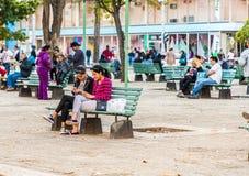 Eine typische Ansicht in Havana in Kuba lizenzfreie stockbilder