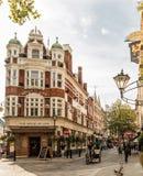 Eine typische Ansicht in London lizenzfreie stockfotografie