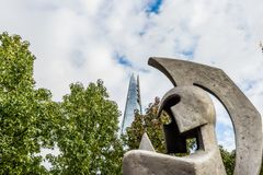 Eine typische Ansicht in London stockfotografie