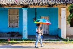 Eine typische Ansicht in Vinales Kuba stockbilder