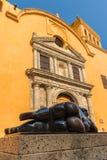 Eine typische Ansicht von Cartagena Kolumbien stockbilder