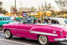 Eine typische Ansicht in zentrales Havana in Kuba stockbilder