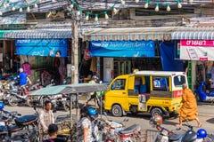 Eine typische Szene in Phuket-Stadt Thailand lizenzfreie stockbilder