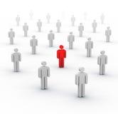 Eine unterschiedliche Person und große Gruppe von Personen Lizenzfreies Stockfoto