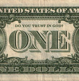 Eine US-Dollarbanknote mit Frage Lizenzfreie Stockfotografie
