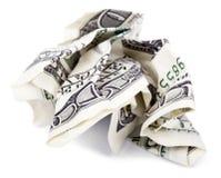 Lokalisiertes quetschverbundenes Bargeld Stockfotos