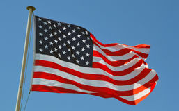 Eine USA-Flagge Stockbild