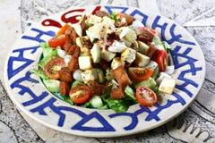 Eine vegtebles Salatplatte stockfoto