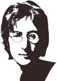 Eine Vektorillustration eines Porträts des Sängers John Lennon auf einem weißen Hintergrund A4 Format, ENV 10 auf Schichten Lizenzfreies Stockbild