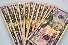 Eine Verbreitung des Geldes Lizenzfreie Stockfotos