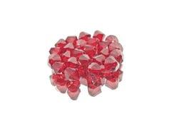 Eine vereinigte Sammlung rote doppelte Kegel Stockbild