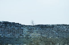 Eine verfallene Wand Lizenzfreies Stockfoto