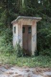 Eine verlassene Militärwachstube lizenzfreies stockbild