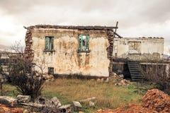 Eine verlassene Stadt in Ptolemaida Griechenland Stockfotografie