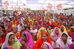 Eine Versammlung der Brahminfrauen Stockfotos