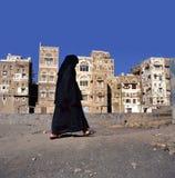 Eine verschleierte moslemische Frau Stockfoto