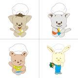 Eine Vielzahl von netten Tieren Lizenzfreie Stockbilder